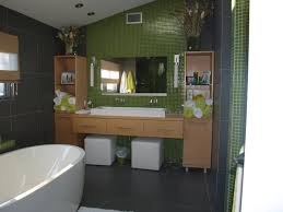 grandiose lime green wall painted and grey tiles bathrooms wall as