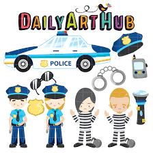 free policemen and criminals clip art set daily free art sets
