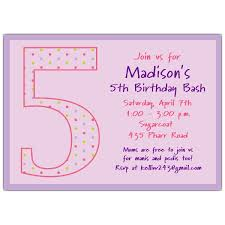 birthday text invitation messages 5th birthday invitation wording marialonghi