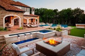 Modern Backyard Modern Backyard Retreat Mediterranean Patio Dallas By Pool
