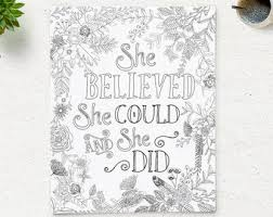 printable quote coloring believed coloringpage
