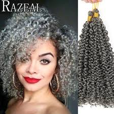 crochet black weave hair razeal freetress crochet braiding hair 14inch curly hair weaves
