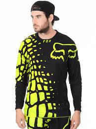 fox womens motocross gear fox black yellow 2017 360 grav mx jersey fox freestylextreme