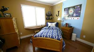 blue and white color for boys bedroom with double single storage f
