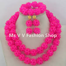 beaded ball necklace images 2018 african beads jewelry set 2018 new design handmade red jpg