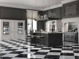 carrelage damier cuisine design interieur cuisine blanche grise designs mood