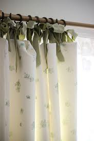Tie Top Curtains Cotton by 18 Cotton Tie Top Curtains Fiji Fully Lined Cream Lace