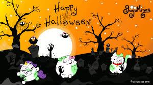 portada de halloween con zombies guyuminos
