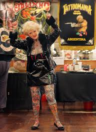 isobel varley world u0027s most tattooed female senior remembered