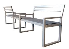 skyline double seat park bench wishbone site furnishings