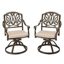 Swivel Patio Dining Chairs Bowery Hill Swivel Patio Dining Chair In Taupe Bh 469745