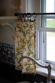 Sewing Cafe Curtains Cloth Napkin Cafe Curtains Just Clip And Your Done Cafe