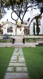 Spanish House Style Lawn U0026 Garden Wonderful Courtyard Design 1685 Home Decoration