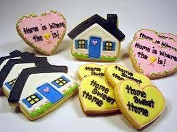housewarming cookies flour box bakery home is where the heart is