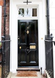 Traditional English Victorian Front Door Stock Photo Picture And