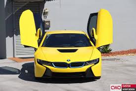 Bmw I8 Gold - bmw i8 wrapped in 3m bright gloss yellow car wraps miami