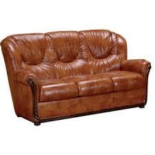 canapé en cuir 3 places canapé cuir stylisé 3 places lucia achat prix fnac