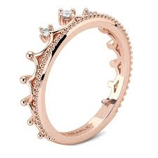 cute rings images Cute rose gold crown promise ring jpg