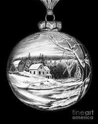 christmas snow scene drawings fine art america