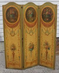 1920s edwardian tri fold dressing room privacy screen mahogany for