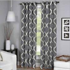 geometric curtains drapes u0026 valances ebay