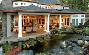 outdoor living plans outdoor living spaces plans beautiful water pond adds tranquility to