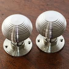 mortice glass door knobs polished nickel beehive door knobs the period ironmongerthe
