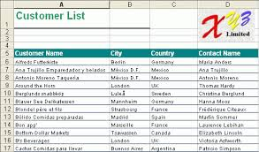 excel customer list template 28 templates customer contact