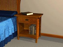 Wood Plans For Bedside Table by Mission Style Open Night Stand Furniture Plans Best