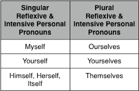 reflexive and intensive pronouns lessons tes teach