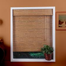 arlo blinds 04tbc bali natural bamboo roman shade the mine