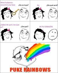 Puking Rainbow Meme - cu磧nto cabr祿n la llave