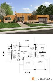Plan AM 3 Bed Modern House Plan with Open Concept Layout