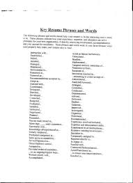 Power Resume Format Resume Power Words For A Resume