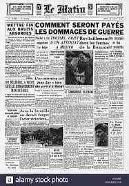 1940 le matin france front page reporting death of leon trotsky