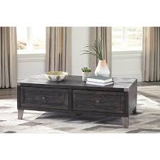 Lift Top Coffee Tables Ashley Furniture Todoe Dark Gray Finish Lift Top Coffee Table With