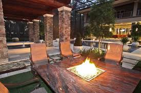 Patio Fireplace Table Fire Table By Firetainment Hibachi Style Cooking At Home With The