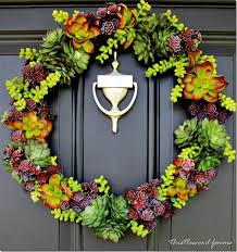 faux succulent wreath and the rest of the story thistlewood farm