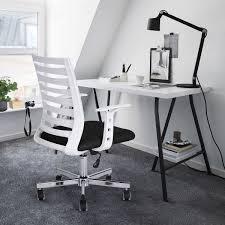 bureaux soldes fauteuil de bureau design tissu noir pvc blanc bagdad soldes