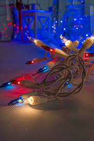 patriotic white blue string lights 32 in white wire