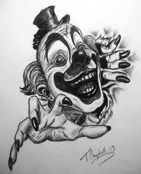 clown tattoo by phoenyxx782 on deviantart