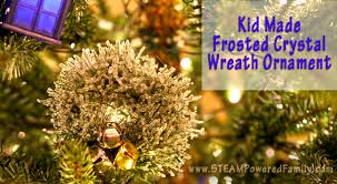 kid made wreath ornaments