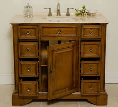 aber 40 inches antique single sink bathroom vanity