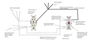 gfci outlet with light switch how to wire a gfci outlet with 3 wires switch combo wiring diagram