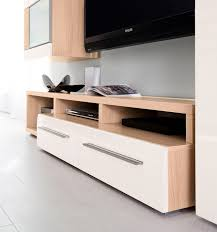 wall unit composition 3 light oak white gloss