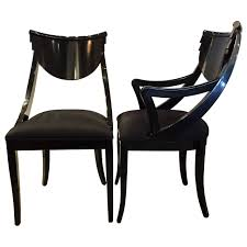 Black Lacquer Dining Room Chairs Set Of Six Black Lacquered Ello Dining Chairs Dining Chairs