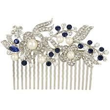 pearl hair comb faith gatsby inspired ivory color simulated pearl