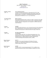 Sample Resume Format For Accounts Executive by Tv Producer Free Resume Samples Blue Sky Resumes