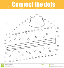 connect the dots by numbers children educational game printable