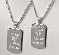 Personalized Dog Tags For Couples List Manufacturers Of Couple Dog Tag Necklace Buy Couple Dog Tag